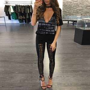 Kim Lace Up Trousers