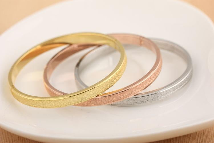 Simple Frosted Bangle Bracelet