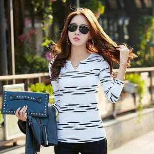 Kate Two Tone Striped Top