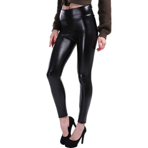 Kyri Glossy Faux Leather Leggings