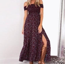 Load image into Gallery viewer, Tamara Off The Shoulder Double Slit Maxi Dress