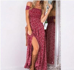 Tamara Off The Shoulder Double Slit Maxi Dress