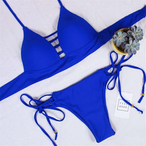 Megan Bandage Thong Bikini Set