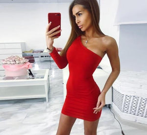 Giovanna One Shoulder Mini Dress