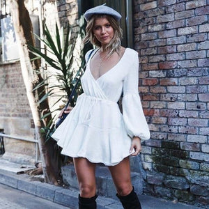 Riley Balloon Sleeve Mini Dress