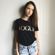 Load image into Gallery viewer, Valor Metallic Vogue Printed T-Shirt