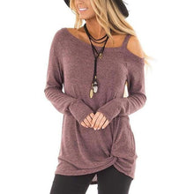 Load image into Gallery viewer, Olivia Asymmetrical Hemline Knot Top