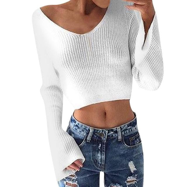 True Cropped Sweater