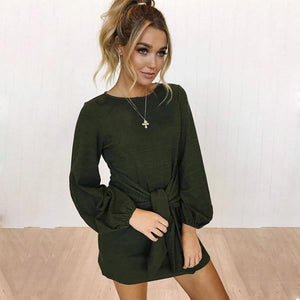 Dalia Backless Wrap Mini Dress