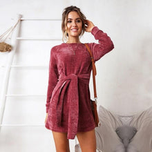 Load image into Gallery viewer, Dalia Backless Wrap Mini Dress