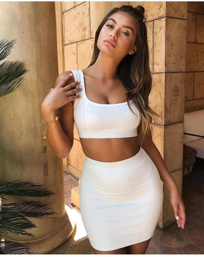 Kimberly Ribbed Two Piece Set