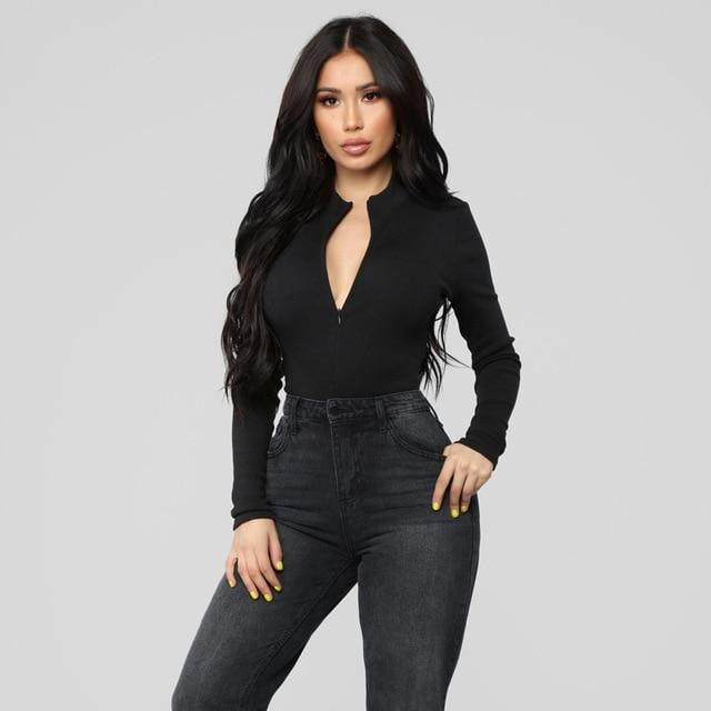 Jocelyn Exaggerated Keyhole Bodysuit