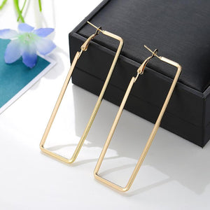 Smooth Rectangle Hoop Earrings