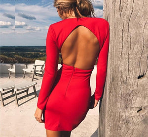 Nahla Backless Mini Dress