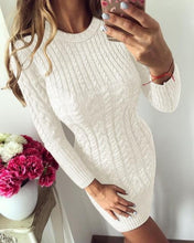 Load image into Gallery viewer, Kari Chunky Knit Mini Dress