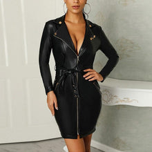 Load image into Gallery viewer, Elizabeth Edgy Collared Mini Dress