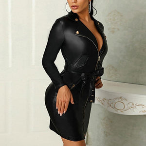Elizabeth Edgy Collared Mini Dress