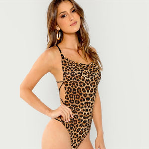 Mariah Strap Detailed Backless Bodysuit