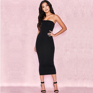 Vanessa Strapless Bodycon Maxi Dress