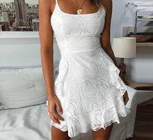 Load image into Gallery viewer, Amanda Backless Ruffled Mini Dress