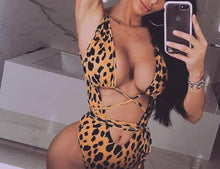 Load image into Gallery viewer, Grace One Piece Leopard Swimsuit