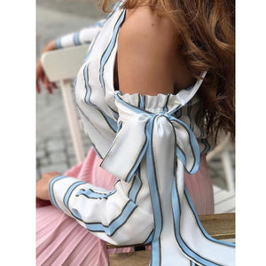 Layla Striped One Shoulder Blouse