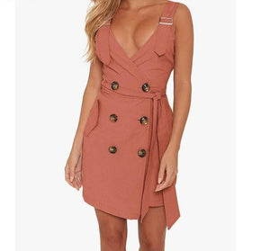 Emily Sleeveless Trench Dress