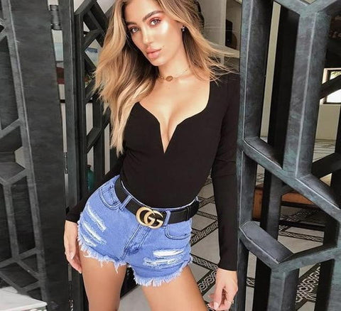 Brooklyn Deep V-Neck Bodysuit