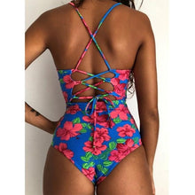 Load image into Gallery viewer, Isabelle Crochet Bandage Cut Out Monokini Swimsuit