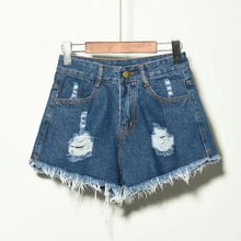 Load image into Gallery viewer, Brielle Distressed High Waist Shorts
