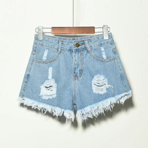 Brielle Distressed High Waist Shorts