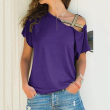 Load image into Gallery viewer, Melinda Sequined Asymmetrical T-Shirt