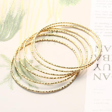 Load image into Gallery viewer, 6 Pieces Big Round Bangle Bracelets