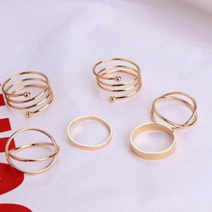 6 Pieces Knuckle Ring Set