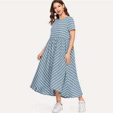 Load image into Gallery viewer, Della Chevron Short Sleeve Maxi Dress