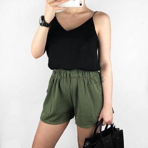 Samantha High Waist Loose Shorts