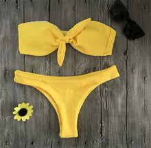 Load image into Gallery viewer, Lyla Chest Knotted High Waist Bikini Set