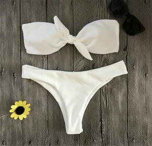 Lyla Chest Knotted High Waist Bikini Set