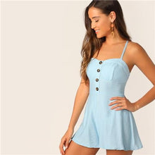 Load image into Gallery viewer, Darcey Halter Button Front Romper