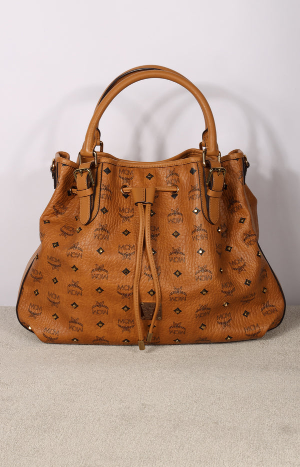 Tasche Visetos Studded Small in Cognac