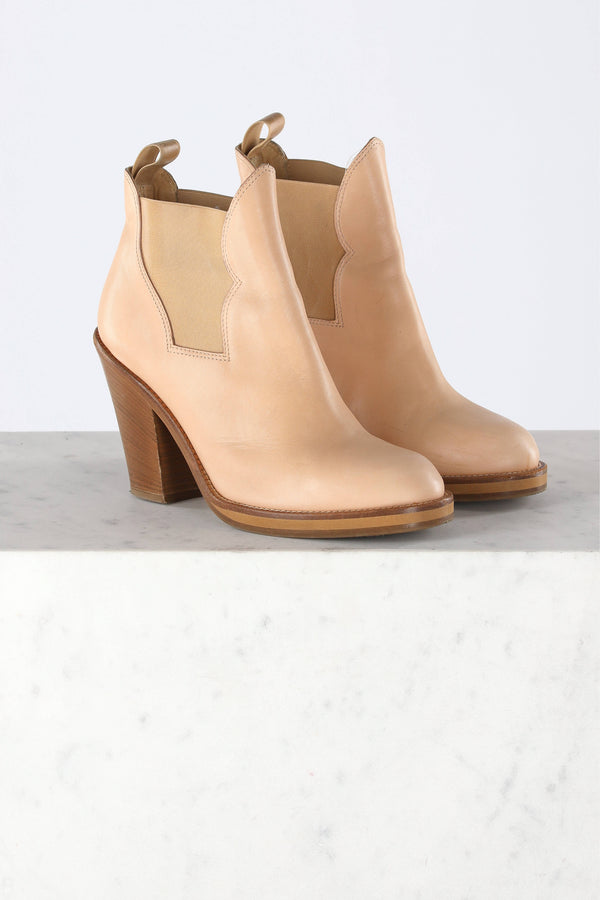 Ankle Boots Star in Nude
