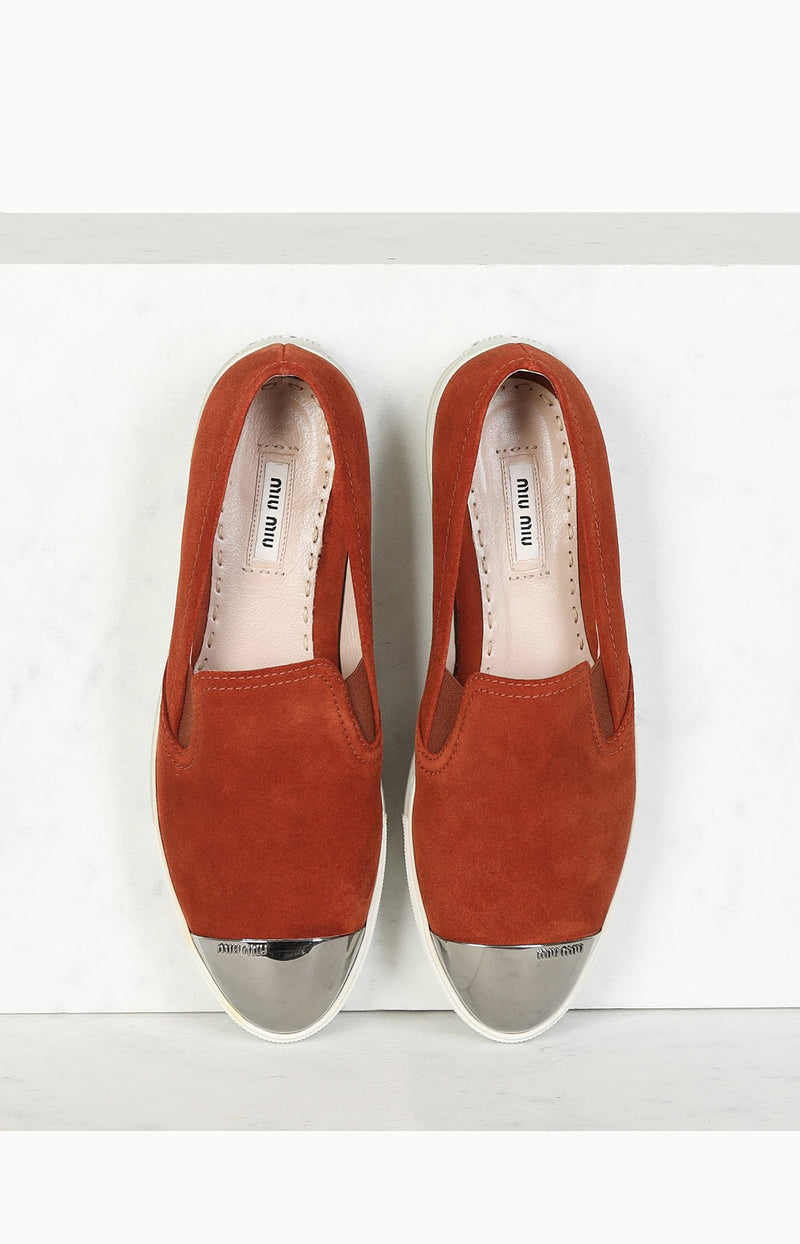 Loafer in Orange/Silber