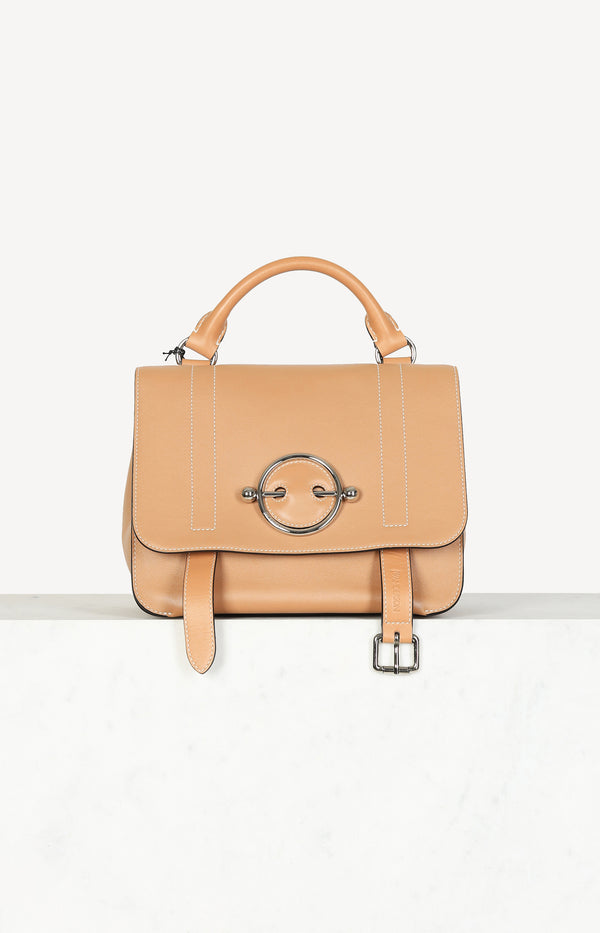 Caramel disc satchel bag