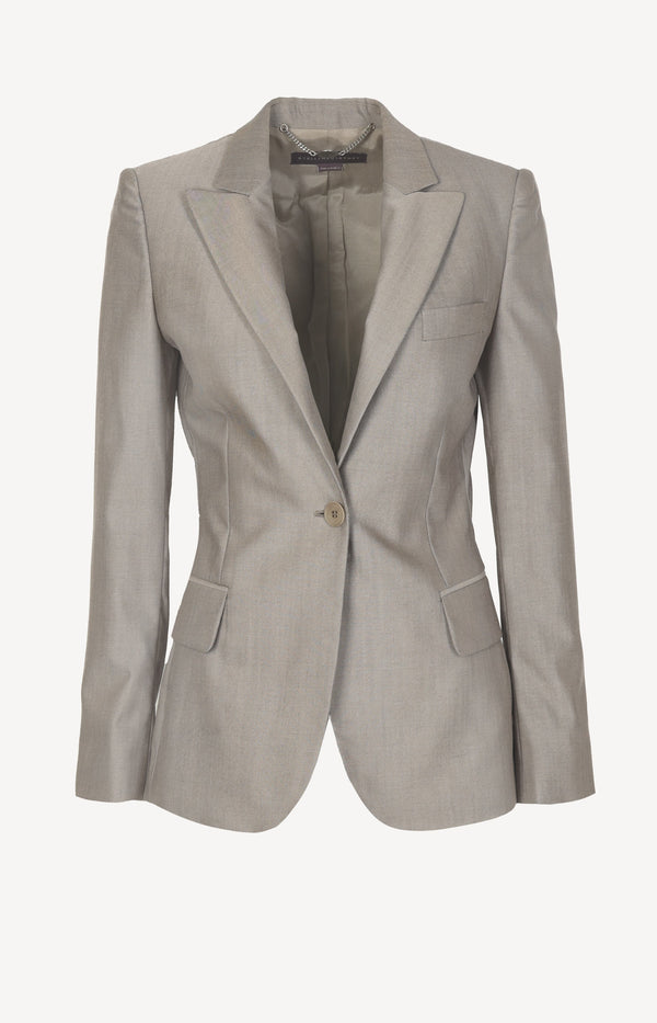 Tailored blazer in taupe