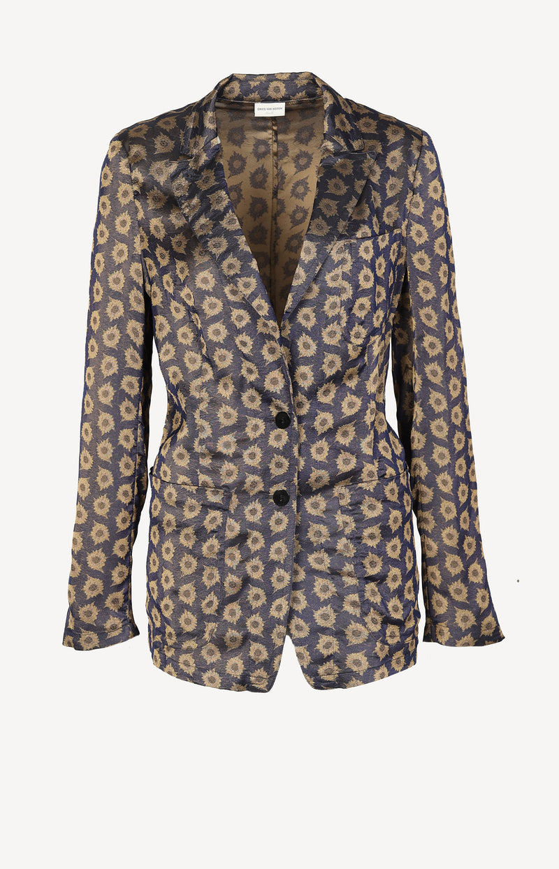 Dünner Blazer in Lila Gold
