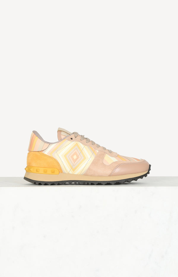 Rockstud sneakers in yellow / pink