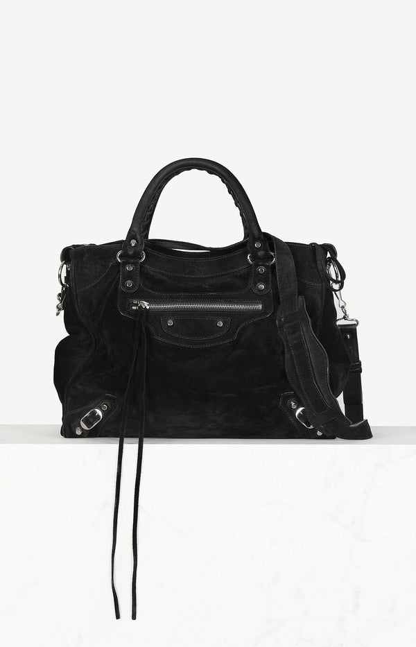 Classic City bag in suede black