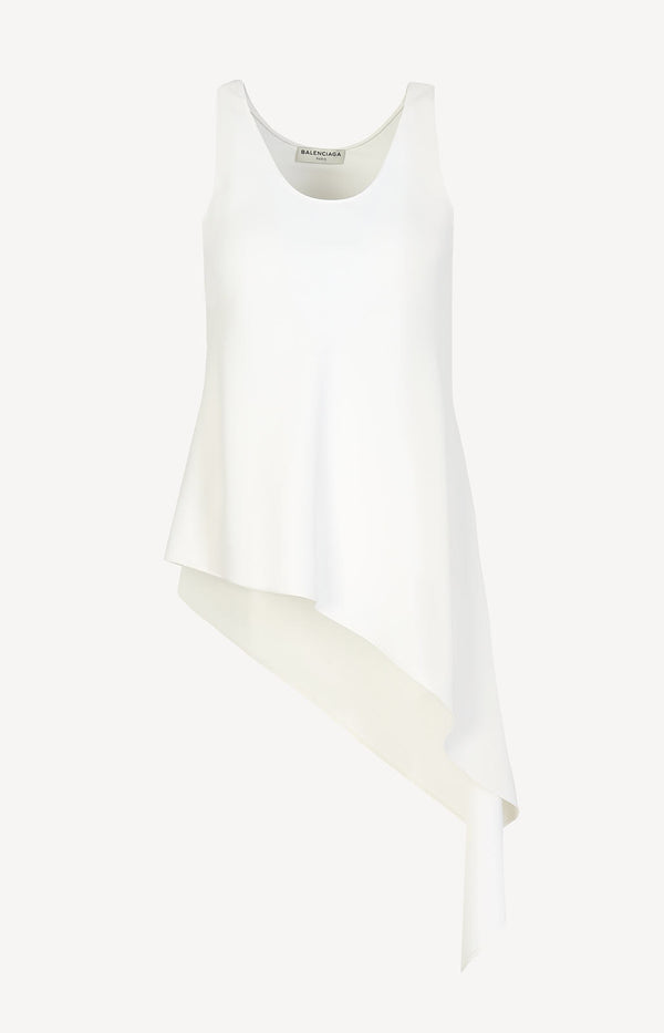 Asymmetrische Bluse in Off-White