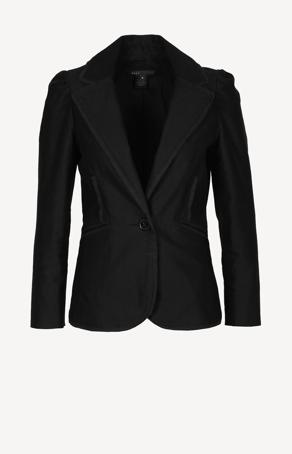 Short blazer in black