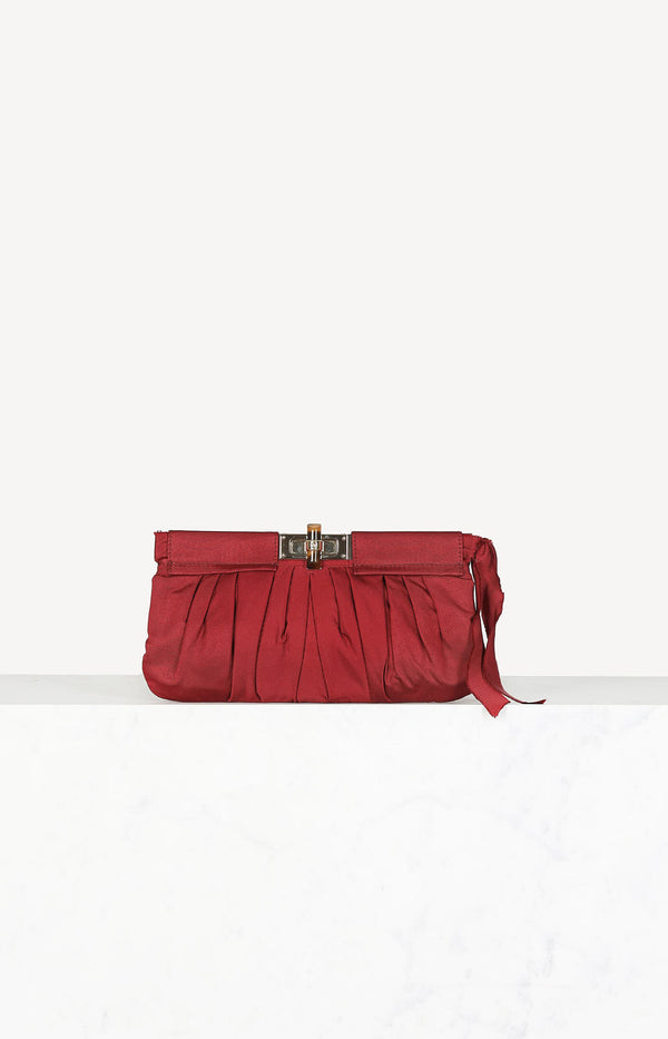Canvas Clutch in Weinrot